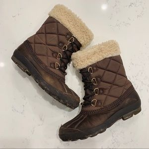 UGG | Leather Fur Lined Winter Snow Boots Booties